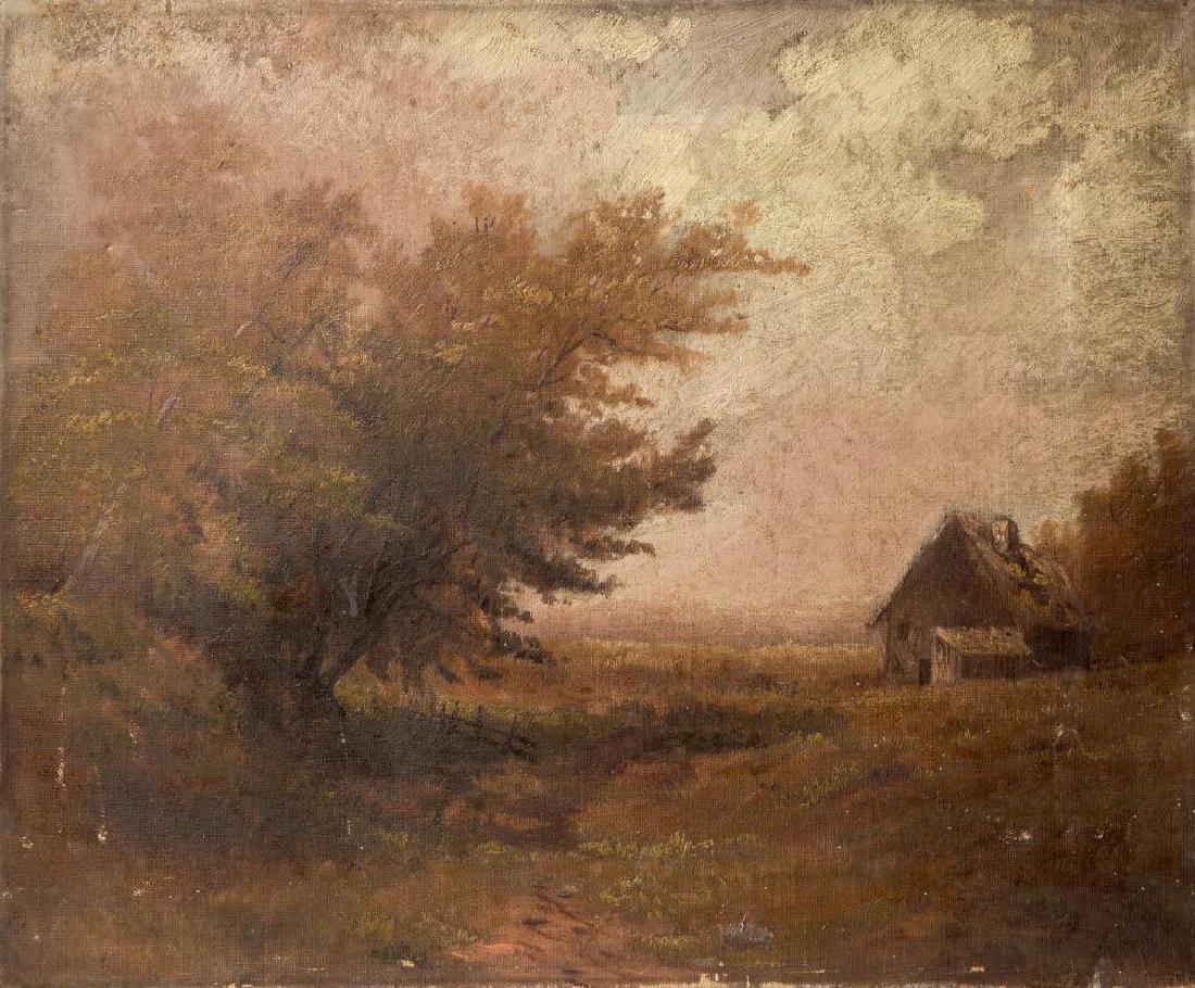 AN ATTR. HUGH H. HOWARD (1860-1927) OIL ON CANVAS