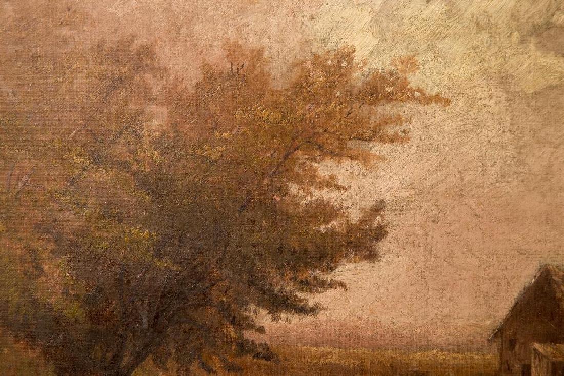 AN ATTR. HUGH H. HOWARD (1860-1927) OIL ON CANVAS - 3