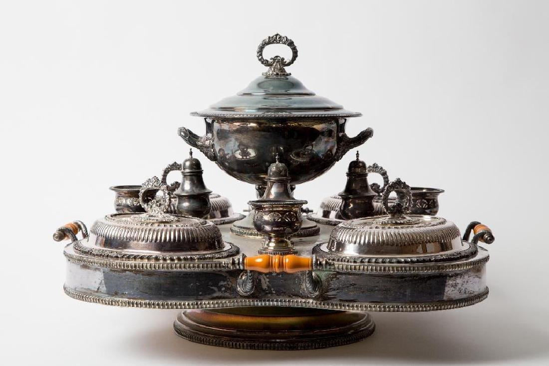 A CROWN SILVER CO. SILVER PLATED BAIN MARIE SERVER - 3