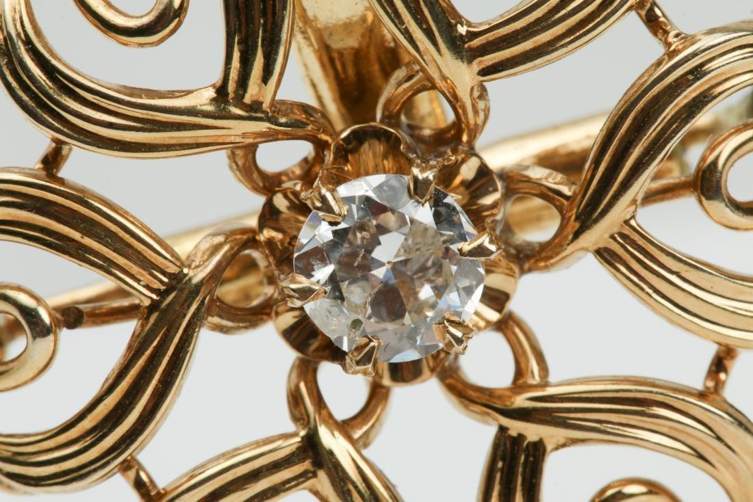 14K YELLOW GOLD PENDANT WITH .60CT DIAMOND - 4