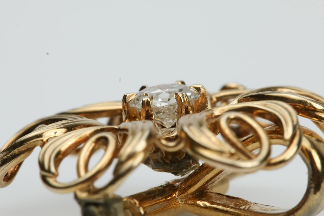 14K YELLOW GOLD PENDANT WITH .60CT DIAMOND - 6