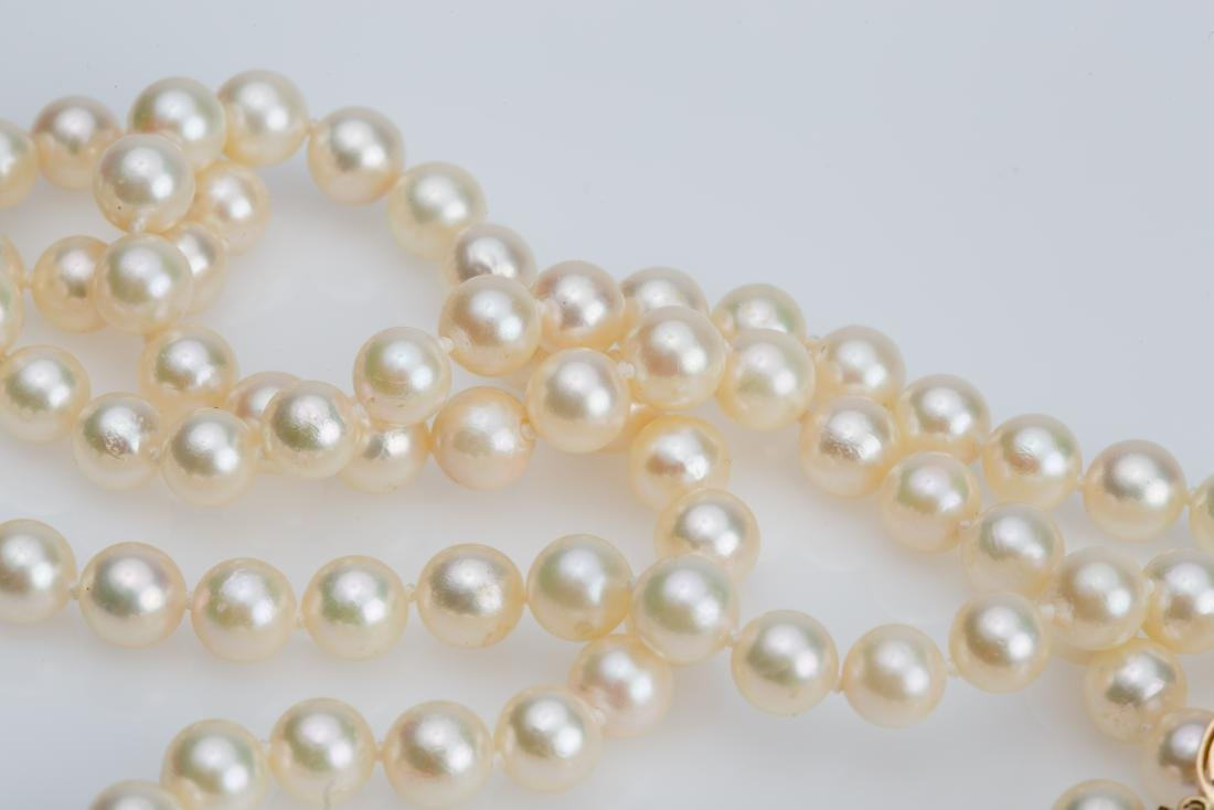 """28"""" AKOYA PEARL NECKLACE 6.5-7MM WITH 14K CLASP - 3"""