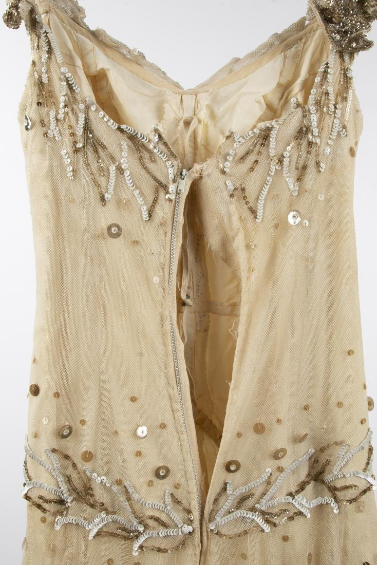 KATHRYN KUHN TULLE EMBELLISHED GOWN, C. 1940'S - 10
