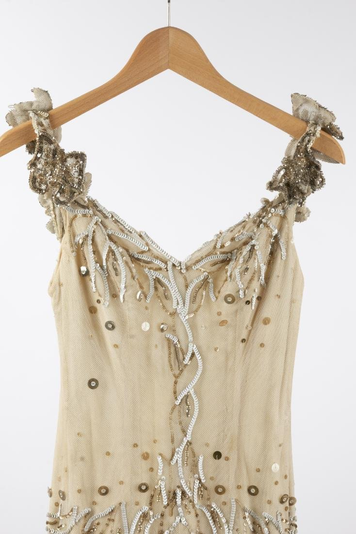 KATHRYN KUHN TULLE EMBELLISHED GOWN, C. 1940'S - 2
