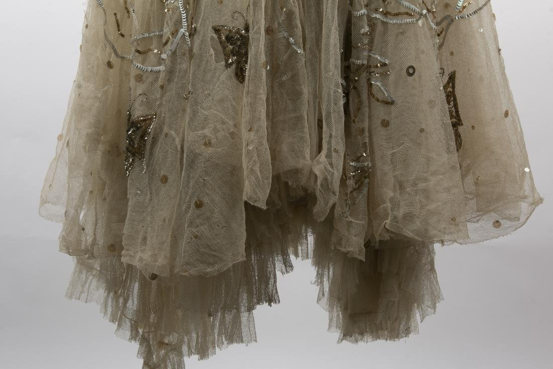 KATHRYN KUHN TULLE EMBELLISHED GOWN, C. 1940'S - 5