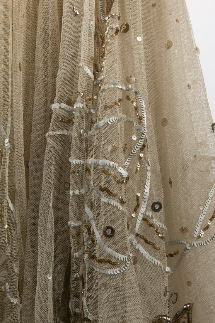 KATHRYN KUHN TULLE EMBELLISHED GOWN, C. 1940'S - 7