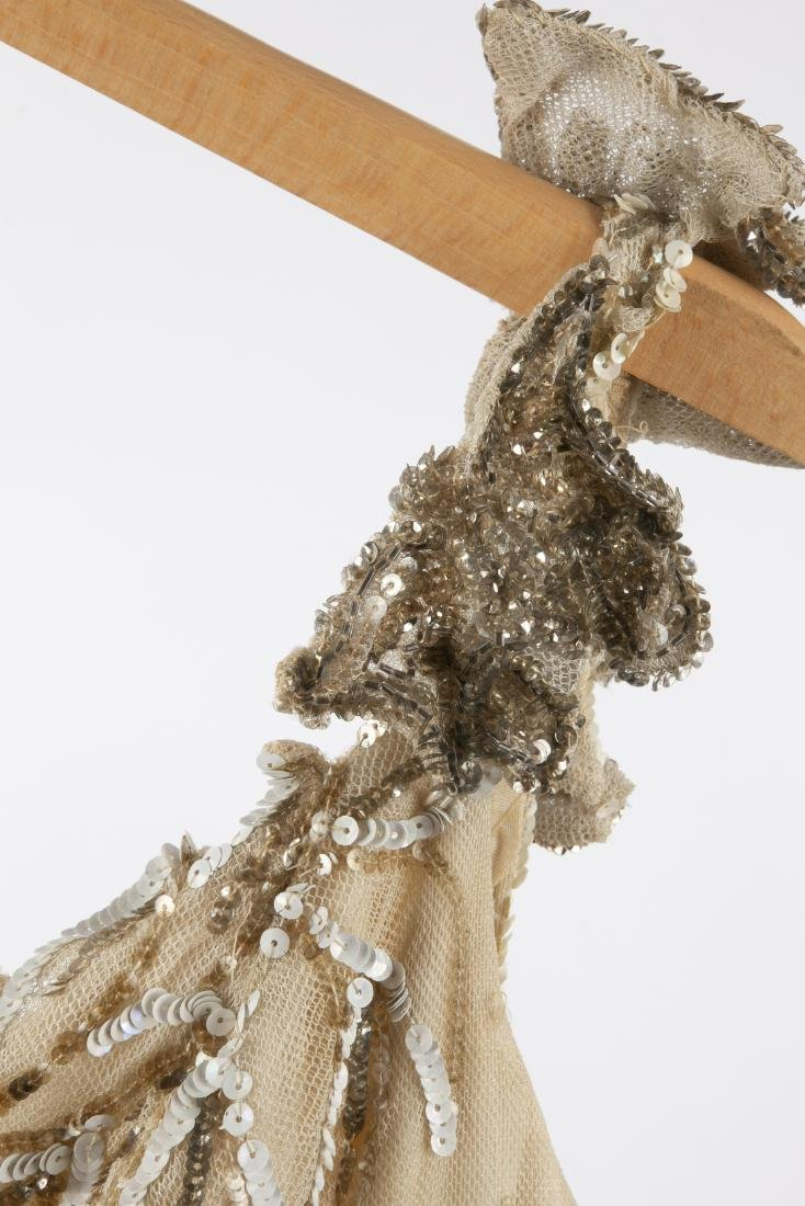 KATHRYN KUHN TULLE EMBELLISHED GOWN, C. 1940'S - 8