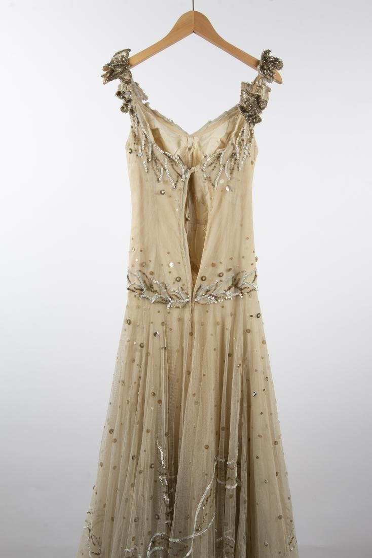 KATHRYN KUHN TULLE EMBELLISHED GOWN, C. 1940'S - 9