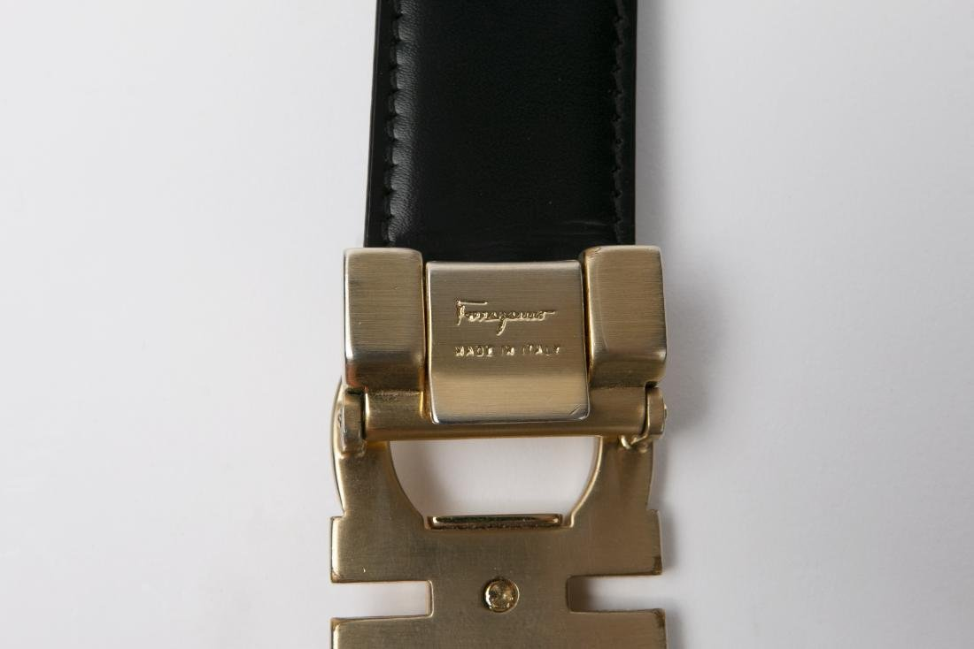 LOT OF MEN'S DESIGNER BELTS / GUCCI / FERRAGAMO - 10