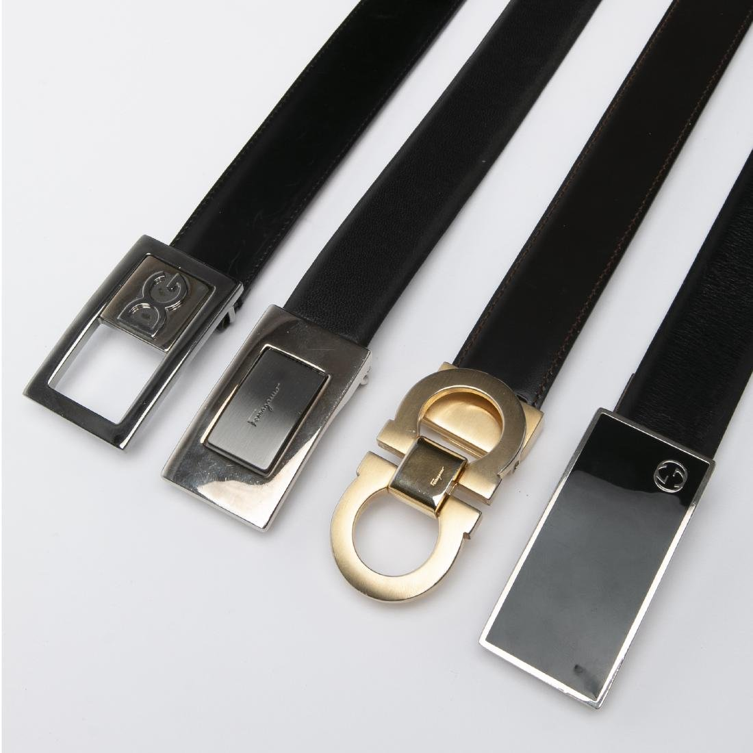 LOT OF MEN'S DESIGNER BELTS / GUCCI / FERRAGAMO