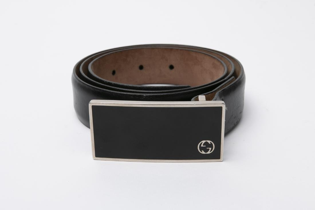 LOT OF MEN'S DESIGNER BELTS / GUCCI / FERRAGAMO - 2