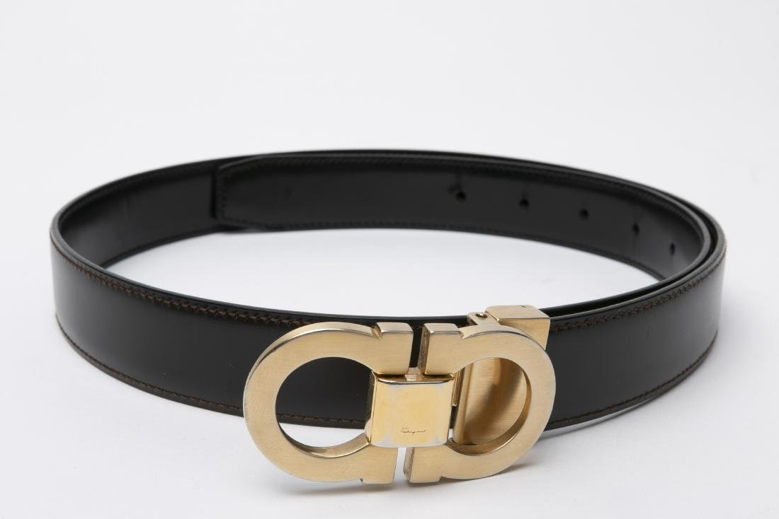 LOT OF MEN'S DESIGNER BELTS / GUCCI / FERRAGAMO - 8