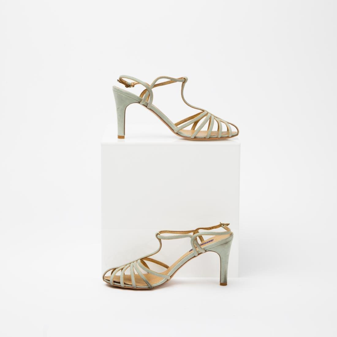 TWO PAIRS OF RALPH LAUREN SANDALS SIZES 9, 9.5