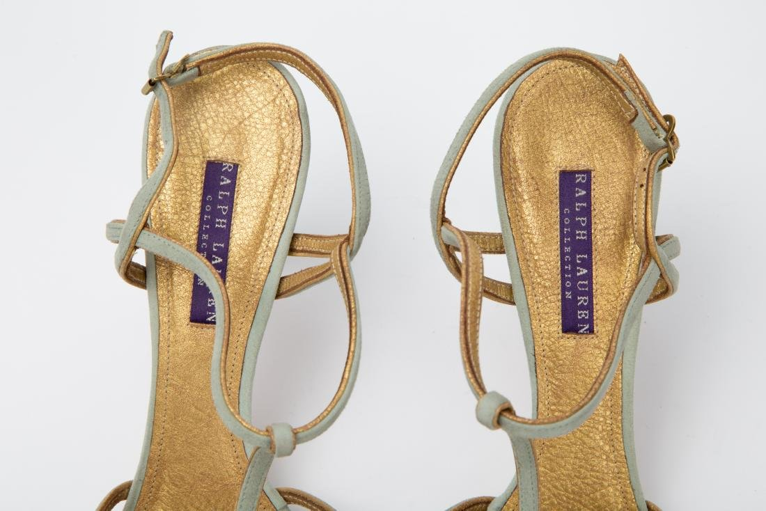 TWO PAIRS OF RALPH LAUREN SANDALS SIZES 9, 9.5 - 3