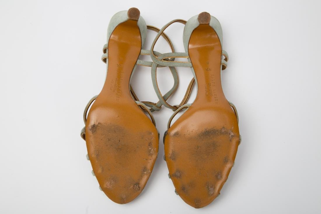 TWO PAIRS OF RALPH LAUREN SANDALS SIZES 9, 9.5 - 4