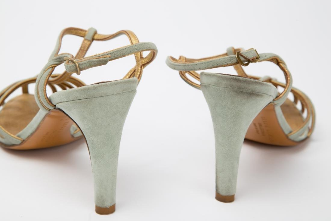 TWO PAIRS OF RALPH LAUREN SANDALS SIZES 9, 9.5 - 5