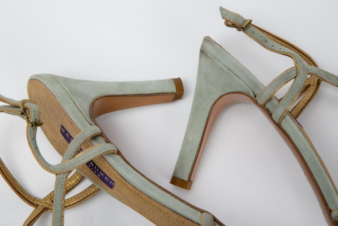 TWO PAIRS OF RALPH LAUREN SANDALS SIZES 9, 9.5 - 7