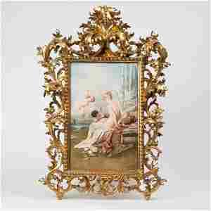 JOSEF ZASCHE (1821-1881) VIENNA HAND-PAINTED PORCELAIN