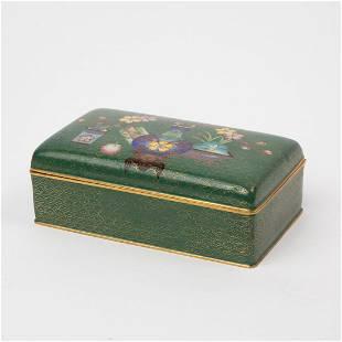 CHINESE CLOISONNE TRINKET BOX 20TH CENTURY