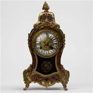 Antique French Gilt Boulle Bracket Clock