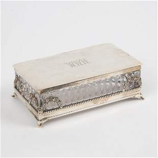 Hawkes Sterling and Cut Crystal Box