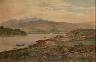 John Nesbitt 'Loch Etive' 1895 Watercolor