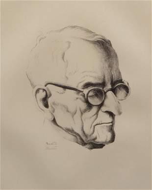 Thomas Hart Benton 'Mr. President' Signed Lithograph