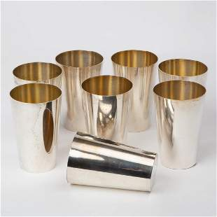 Eight Otto Wolter Sterling Julep Cups