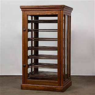 Oak & Glass Country Store Ribbon Cabinet