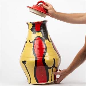 Ken Ferguson (1928-2004) Art Pottery Lidded Vase