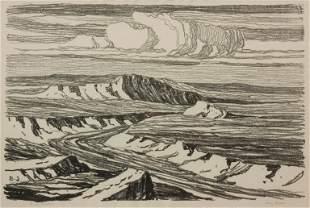 Birger Sandzen 'Dry Creek' Pencil-Signed Lithograph
