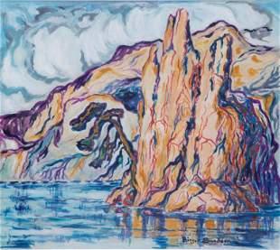 Original Birger Sandzen Watercolor, Moab Utah