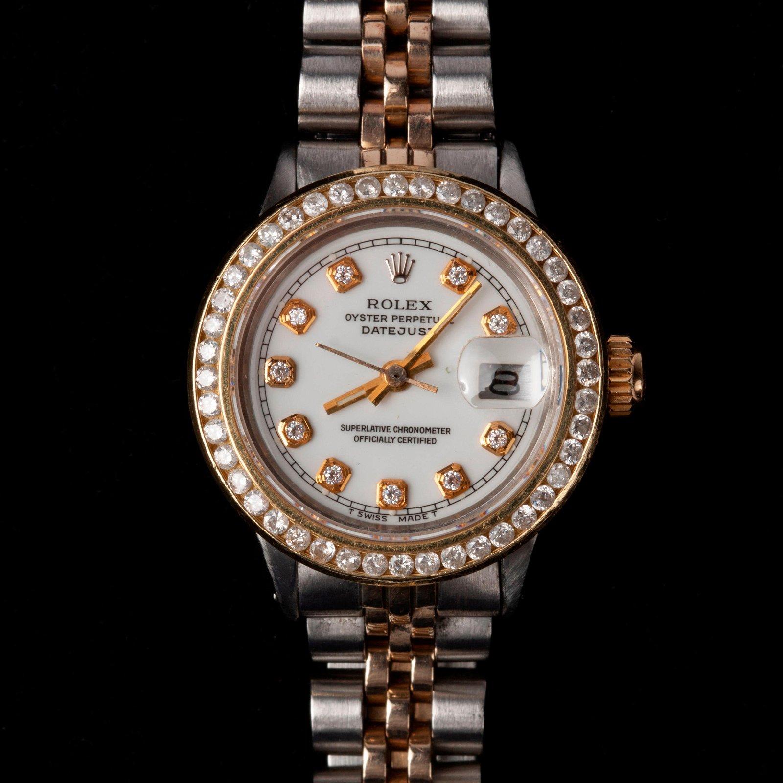 Rolex Oyster Perpetual DateJust Watch w/ Diamonds #6517