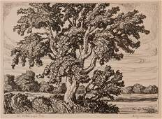 Birger Sandzen 'The Cottonwood Tree' Signed Lithograph
