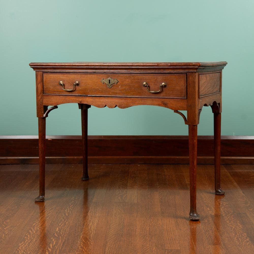 Early 19th c. English Oak Side Table