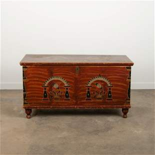 Berks County Painted Blanket Chest, Early 19th c.