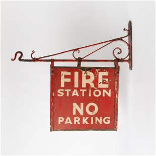 Hand Painted Fire Station Sign
