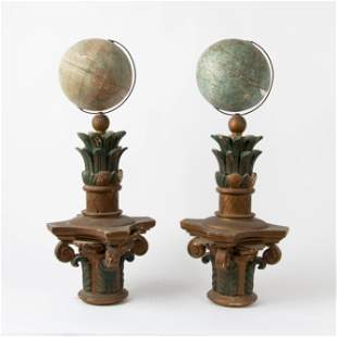 Folk Art Secret Society Celestial & Terrestrial Globes