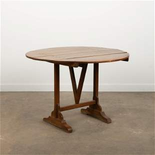 19th c. French Walnut Wine Tasting Table
