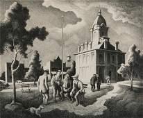 Thomas Hart Benton 'County Politics' Lithograph
