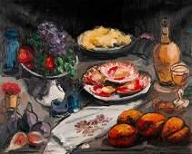 Jose Navarro-Vives (b. 1931) Oil Still Life on Canvas