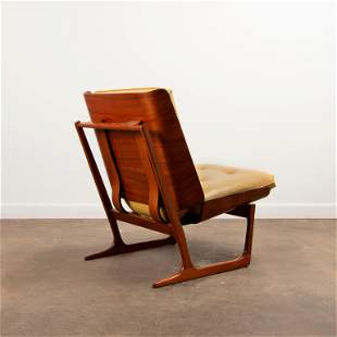 HANS JUERGENS / Deco House Walnut Lounge Chair (1960s)