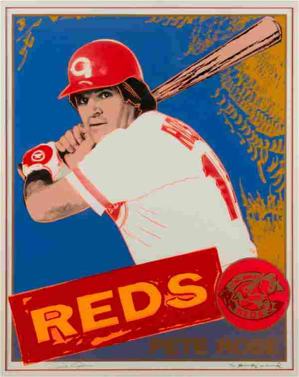 ANDY WARHOL / Pete Rose (1985), Signed by Both