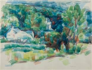 WILBUR NIEWALD / Tanglewood (1973 Watercolor)