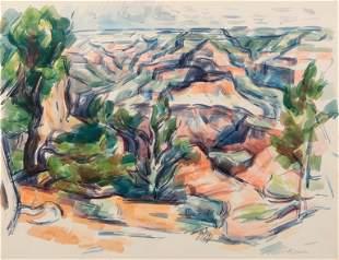 WILBUR NIEWALD / Yaki Point (1973 Watercolor)