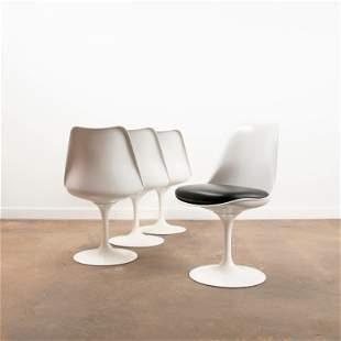 EERO SAARINEN / Four Knoll Tulip Armless Chairs