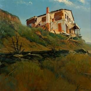 ROBERT KALTHOFF / The Old House, Jerome AZ (1999 Oil)