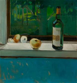 LOU MARAK / Still Life (1963 Oil)