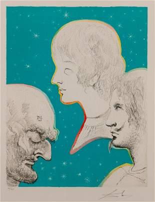 SALVADOR DALI / Meriville and His Sons Reunited (1969)