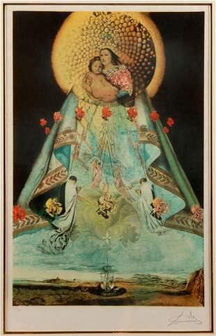SALVADOR DALI (After) / The Virgin of Guadalupe (1959)